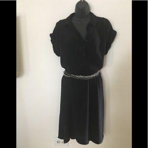 Ann Taylor Loft Black Short Sleeve Dress.8
